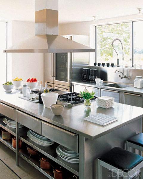 Bancada cozinha inox sob medida inoxval for Professional home kitchen ideas