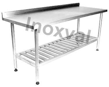 Mesa De Aço Inox Para Cozinha Industrial Inoxval