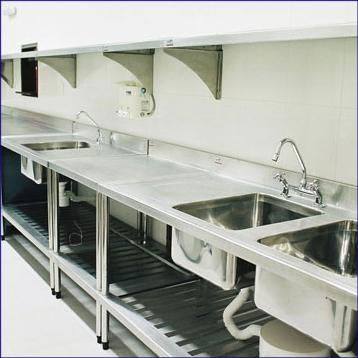 Bancadas em inox laboratorios